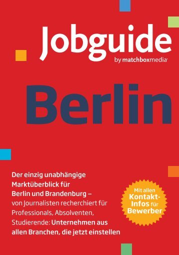 Jobguide - Herzlich Willkommen beim Dual Career Netzwerk Berlin!