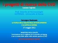 I progetti di ricerca della CVD - L. Caprino - Istituto Superiore di Sanità