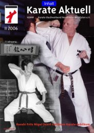 Hanshi Fritz Nöpel feiert Goldenes Karate-Jubiläum - Karateverein ...