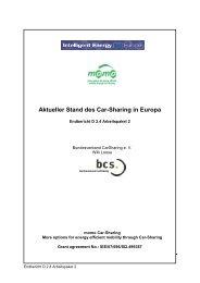 Aktueller Stand des Car-Sharing in Europa - UITP