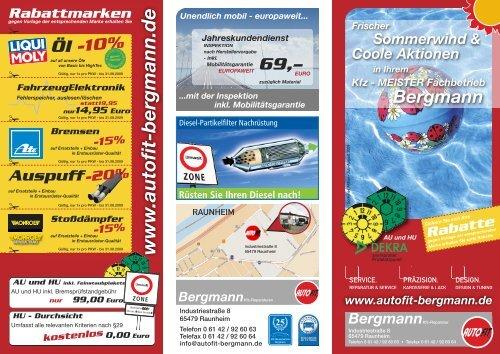 w w w .a u to fit-b e rg m a n n .d e - Autohaus D. Bergmann