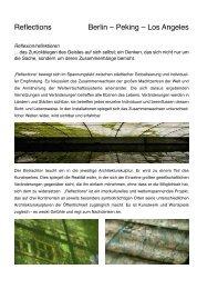 Reflections Berlin – Peking – Los Angeles