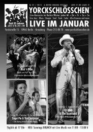 LIVE IM JANUAR - Yorckschlösschen