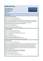 Download einer Wegbeschreibung zu CW Bearing GmbH als