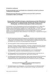 Satzung über die Straßenreinigung, Laubentsorgung und den ...