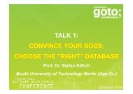 TALK 1: CONVINCE YOUR BOSS: CHOOSE THE