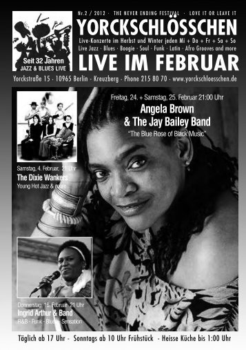 Angela Brown & The Jay Bailey Band - Yorckschlösschen
