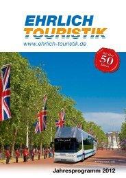 Jahresprogramm 2012 - Ehrlich Touristik