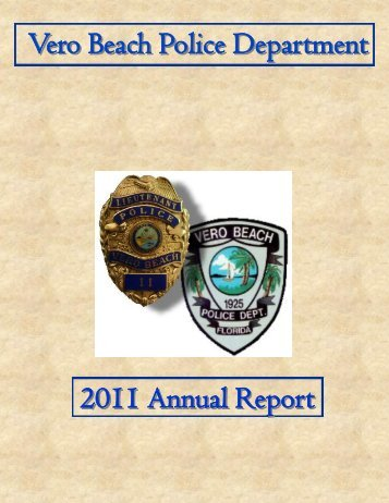 2011 Annual Report - Vero Beach Police Department