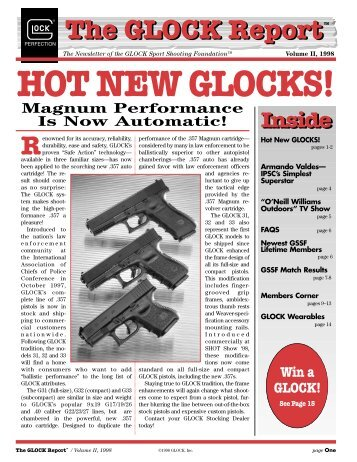 HOT NEW GLOCKS! - Glock Sport Shooting Foundation