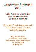 Spielepass 2011 - Marktgemeinde Langenrohr - Page 2