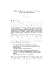 Effizientes Parsing extraponierter Phrasen