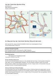 Van der Valk Hotel Berliner Ring Ihr Weg zum Van der Valk Hotel ...