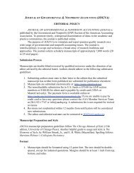 EDITORIAL POLICY JOURNAL OF ... - Allen Press, Inc.