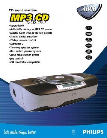 CD sound machine AZ4000 AZ4000 - Philips