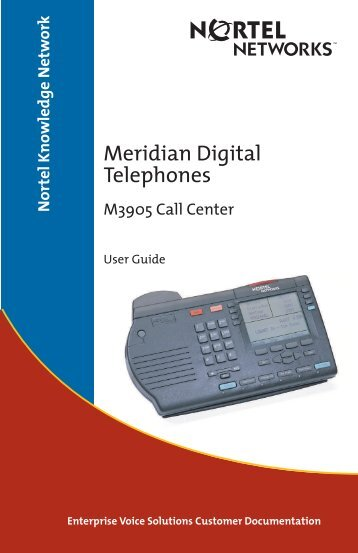 Meridian Digital Telephones M3505 Call Center User Guide