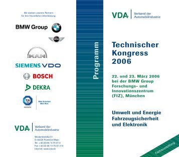 Programm Technischer Kongress 2006 [PDF-Datei, 402 ... - beim VDA