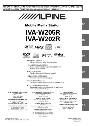 EN Mobile Media Station IVA-W205R IVA-W202R - Alpine