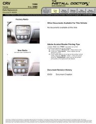 466001 - CRV - 98 - Radio Install