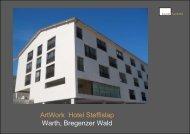Hotel Sporthotel Steffisalp, Gesamtkonzept und ... - Kunstkontakt