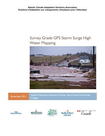 ACASA PEI High Water Mapping GPS.pdf - Atlantic Climate ...
