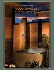 PrE-CAST SOAkiNg TubS - Sonoma Cast Stone