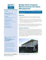 Bridge Deck Integrity Measurements for Asset Management