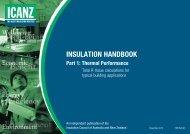 INSULATION HANDBOOK Part 1: Thermal Performance - icanz