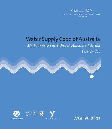 Melbourne Retail Water Agencies Edition Version 1.0