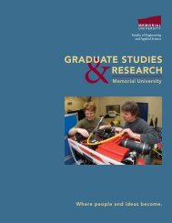 graduate studies research - Faculty of Engineering and Applied ...