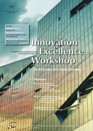 Innovation Excellence Workshop 30-31 October 2012, Berlin ...