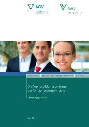 Die Weiterbildungsumfrage der Versicherungswirtschaft - BWV
