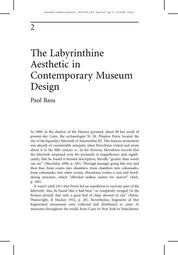 The Labyrinthine Aesthetic in Contemporary Museum Design