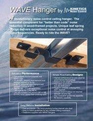 WAVE Hanger - Kinetics Noise Control