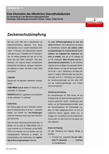 Zeckenschutzimpfung - Lasberg
