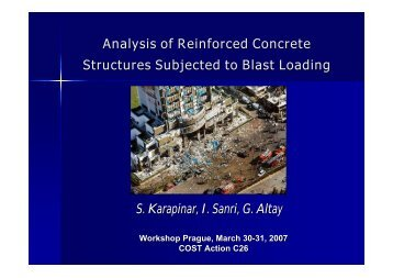 Analysis of Reinforced Concrete Structures Subjected to Blast ...