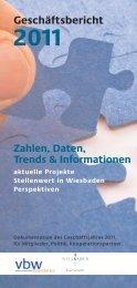 Geschäftsbericht 2011 Zahlen, Daten, Trends & Informationen