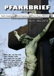 April - Mai 2012 PFARRBRIEF - St. Joseph, Siemensstadt