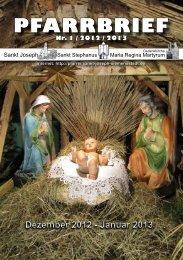 Dezember 2012 - Januar 2013 PFARRBRIEF - St. Joseph ...