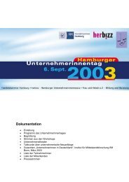 Dokumentation - Hamburger Unternehmerinnentag
