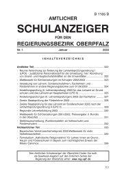 Schulanzeiger.pmd - Regierung der Oberpfalz - Bayern