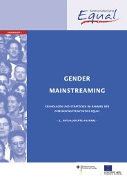 3 Gender Mainstreaming - EQUAL - ESF
