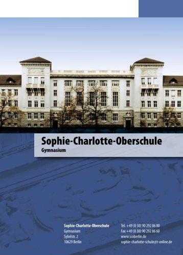 Schulleitung - der Sophie-Charlotte-Oberschule