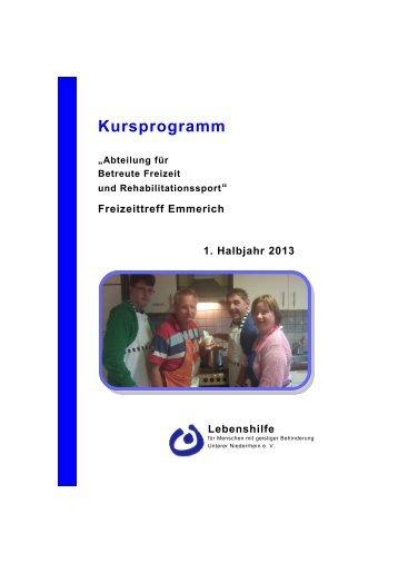 Kursprogramm - Lebenshilfe Unterer Niederrhein e.V.