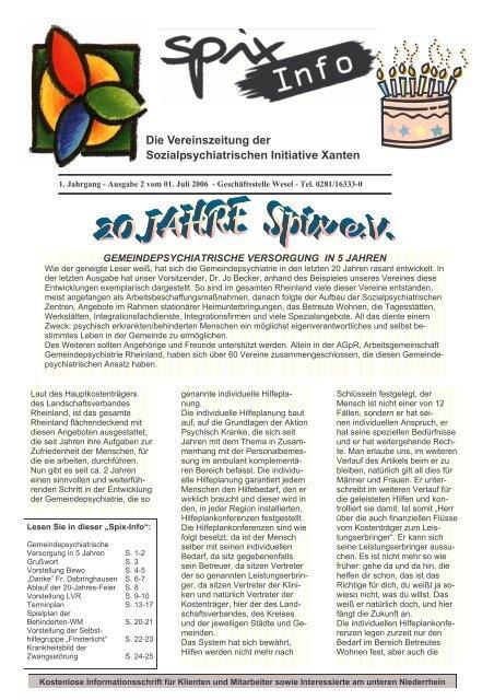 Download Ausgabe Juli - August 2006 - Spix eV