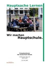 Pressemappe lesen / laden - Ursula-Kuhr-Hauptschule
