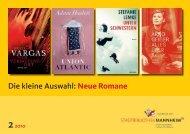 Die kleine Auswahl: Neue Romane - Stadt Mannheim