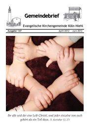Aktuelle Informationen - Evangelische Kirche Niehl