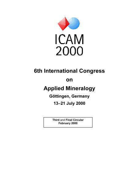 6th International Congress On Applied Mineralogy