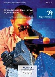 Wirtschaftsstandort Region Hannover Regionalreport 2002 - NIW